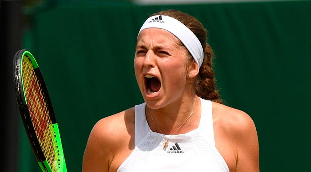 Hitting out: Jelena Ostapenko criticised being put on Court 12