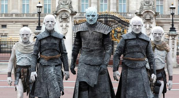 The Night King and White Walkers march past Buckingham Palace to promote the forthcoming Game Of Thrones Season 7 on July 11, 2017 in London, England. (Photo by Tim P. Whitby/Tim P. Whitby/Getty Images)