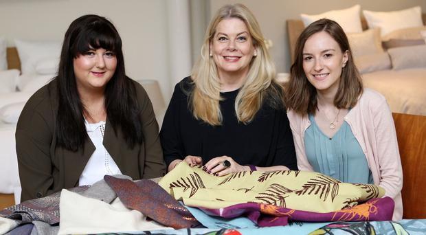 From left, Niamh Hurley, Julie Hall, Bedeck's head of design, and Lynsey Anderson