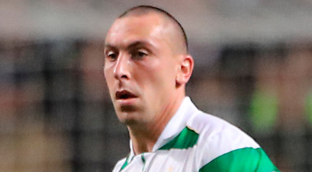 Up for it: Celtic's Scott Brown is relishing clash with Linfield