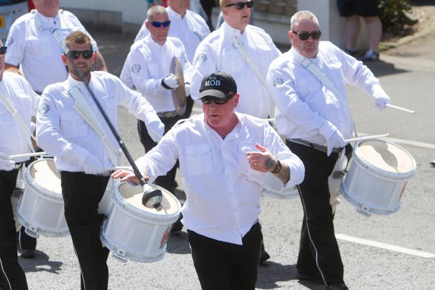 Bangor 12th July parade makes its way throught the town. Monkstown the MOB Picture Colm O'Reilly 12-07-17