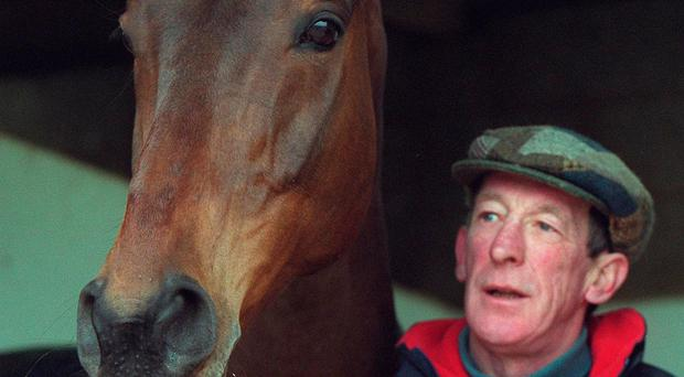 National hero: Tommy Carberry with his 1999 Aintree Grand National winner Bobbyjo. Photo: Lorraine O'Sullivan/INPHO