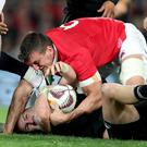 Stick or twist: After a draw that suits no one, Lions captain Sam Warburton insists on a Twister decider to see who wins the series. Photo: Dan Sheridan/INPHO