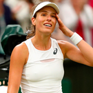 I feel good: Johanna Konta after beating Simona Halep in the Wimbledon quarter-finals. Photo: Michael Steele/Getty Images