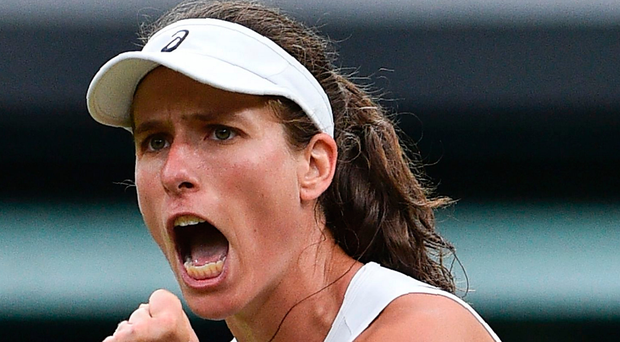 Strong support: Johanna Konta. Photo: Getty Images