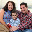 Health battle: leukaemia sufferer Henry Thompson from Newtownabbey with his mum Helen and dad Ian