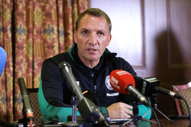 Celtic FC Manager at a press conference at the Culloden Hotel in Belfast ahead of their game with Linfield. Photo by Kelvin Boyes / Press Eye.