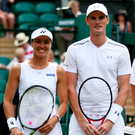 Winners: Martina Hingis and Jamie Murray won their mixed double quater final match at Wembledon yesterdahy. Photo: Julian Finney/Getty Images