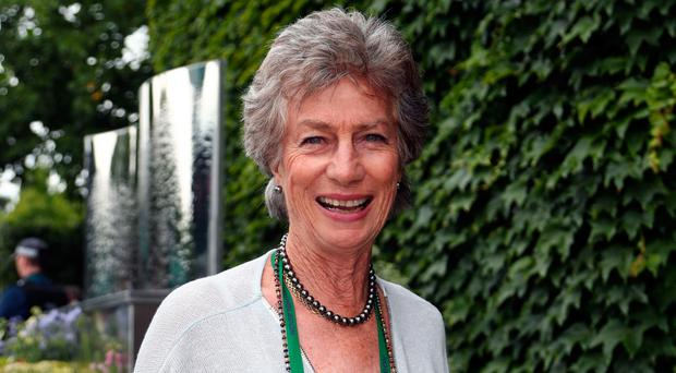Virginia Wade at Wimbledon yesterday. Photo: Gareth Fuller/PA