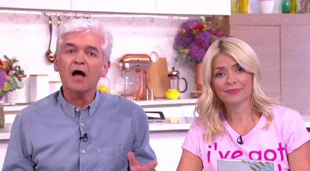 This Morning presenters Phillip Schofield and Holly Willoughby.