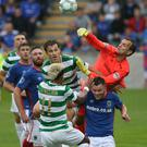 Linfield goalkeeper Roy Carroll put in a man of the match performance against Celtic.