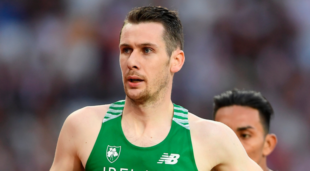 Class act: Michael McKillop last night powers into 800m final. Photo: Mike Hewitt/Getty Images