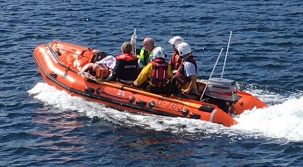 The rescue team in action on Sunday