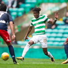 Good start: Kundai Benyu impressed during Celtic's defeat to Lyon at the weekend