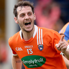 Get in: Armagh's Jamie Clarke celebrates brilliant late goal