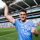 Delight: Bernard Brogan celebrates after the game