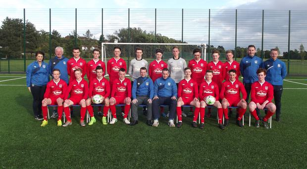 The County Down Premier squad are ready for kick-off in the Super Cup NI.