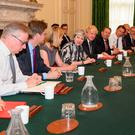 Beleaguered Prime Minister Theresa May hosts a Cabinet meeting