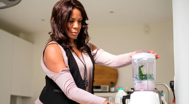 Keep moving: Ruby James juicing in the kitchen