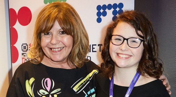 Kiera McKillop with Maggie Philbin, former TV presenter