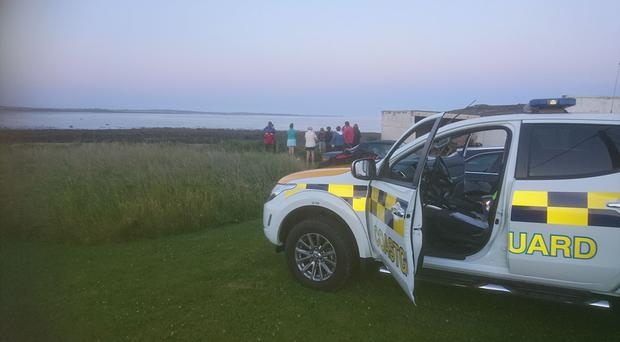 The search at Tyrella beach.
