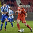 Nathaniel Ferris in action for Portadown last season.