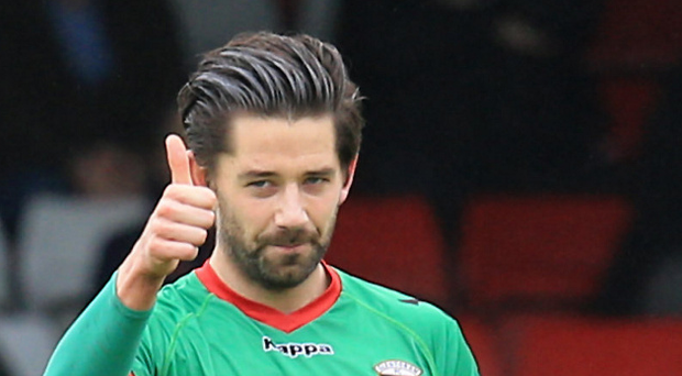 Curtis Allen and his Glentoran side will be live on Sky Sports in October.