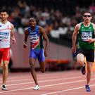Ireland's Jason Smyth (right) wins the Men's 200m T13 Final during day five of the 2017 World Para Athletics Championships at London Stadium. Simon Cooper/PA Wire.