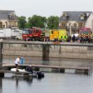 The scene of the fatal drowning at Tarmonbarry Harbour Marina, Co. Roscommon today. PIC COLIN O'RIORDAN