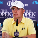 Looking ahead: Jordan Spieth at Royal Birkdale yesterday