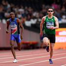 Out in front: Jason Smyth wins 200m gold at the World Para Championships at London Stadium last night