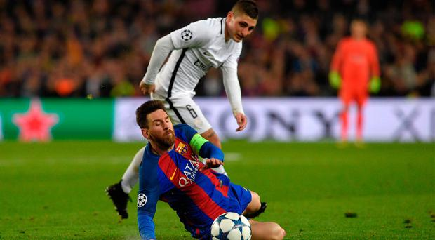 Marco Verratti (top) has been linked with a move to Old Trafford.
