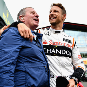 Far from grand: Martin Brundle wasn't as bright as a button, even Jenson, at Sunday's British Grand Prix. Photo: Dan Mullan/Getty Images