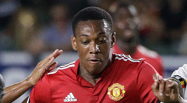Manchester United have been asked to include Anthony Martial in any Inter Milan deal for Ivan Perisic (AP Photo/Jae C. Hong)