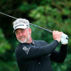 Northern Ireland's Darren Clarke got things going towards the end of his round at Royal Birkdale.