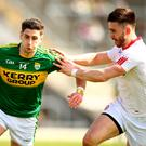 Top men: Kerry's Paul Geaney and Padraig Hampsey of Tyrone have excelled this summer. Photo: Cathal Noonan/INPHO