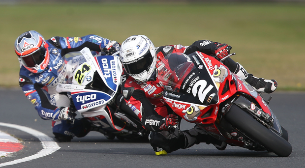 Roaring return: Christian Iddon and Glenn Irwin will be back at Brands Hatch after missing some BSB action through injury. Photo: Stephen Davison
