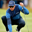 Henrik Stenson lines up a putt on the 8th hole at Royal Birkdale. Photo: Stuart Franklin/Getty Images