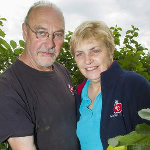 Growing demand: Helen and Philip Troughton in their apple orchard