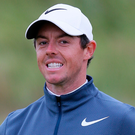 Upbeat: Rory McIlroy after second round 68 at the Open