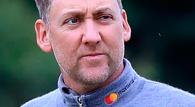 Confident: Ian Poulter in contention at three under