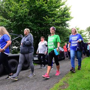 Volunteers pictured during the search for missing Newtownabbey man Dean McIlwaine on Saturday, July 22 for a search at Cavehill Country Park in Belfast.