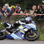 Speed kings: Magherafelt rider Paul Jordan powers his Yamaha to victory in the Supersport race at Faugheen. Photo: Stephen Davison