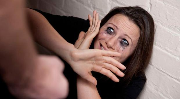 Odious crime: domestic violence is often worse in developed societies. File image posed by model