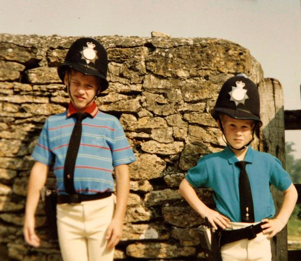The young princes in policemen outfits