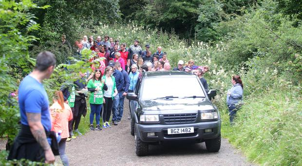 Family, friends and dozens of volunteers joined in Saturday's search for Dean McIlwaine in Cave Hill Country Park
