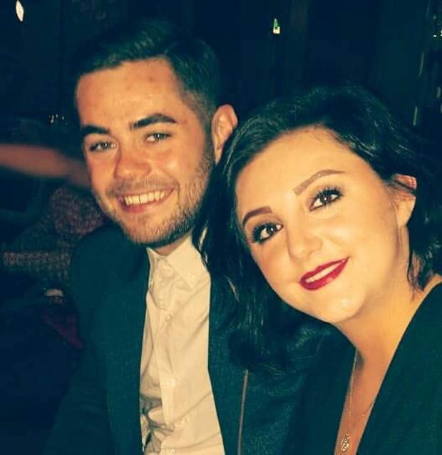 Dean McIlwaine and his girlfriend Demi-Jo McMahon