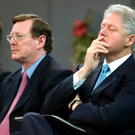 David Trimble with Bill Clinton during the President's visit to Belfast back in 2000