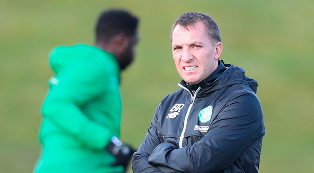 Threadbare: Brendan Rodgers' attacking options are limited for Celtic's clash with Rosenborg. Photo: Ian MacNicol/Getty Images