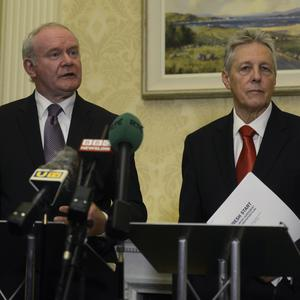 Peter Robinson said he and Martin McGuinness were